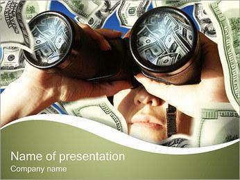 Money zoeken Sjablonen PowerPoint presentatie