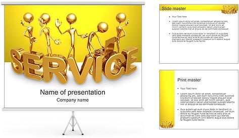 Serviço de Ouro Modelos de apresentações PowerPoint