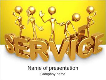 Gold Service PowerPoint šablony