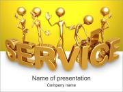 Gold Service PowerPoint Templates