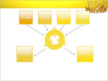 Serviço de Ouro Modelos de apresentações PowerPoint - Slide 10