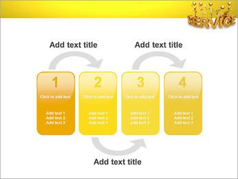 Serviço de Ouro Modelos de apresentações PowerPoint - Slide 11