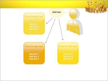 Serviço de Ouro Modelos de apresentações PowerPoint - Slide 12