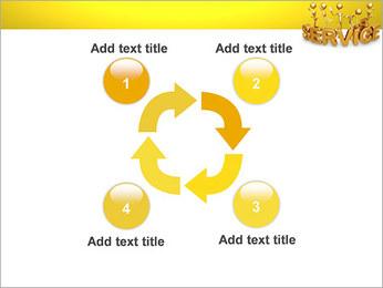 Serviço de Ouro Modelos de apresentações PowerPoint - Slide 14