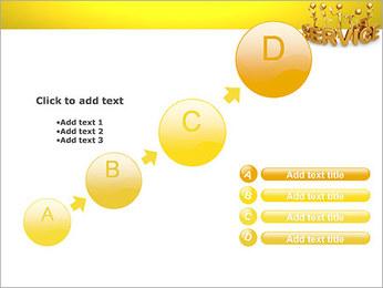 Serviço de Ouro Modelos de apresentações PowerPoint - Slide 15