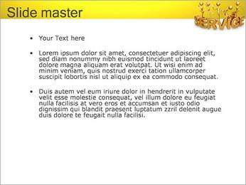 Serviço de Ouro Modelos de apresentações PowerPoint - Slide 2