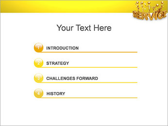 Serviço de Ouro Modelos de apresentações PowerPoint - Slide 3