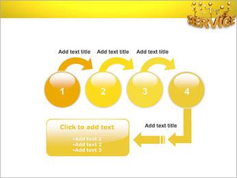Serviço de Ouro Modelos de apresentações PowerPoint - Slide 4