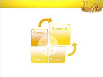 Serviço de Ouro Modelos de apresentações PowerPoint - Slide 5