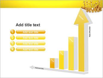 Serviço de Ouro Modelos de apresentações PowerPoint - Slide 6