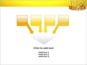 Serviço de Ouro Modelos de apresentações PowerPoint - Slide 8