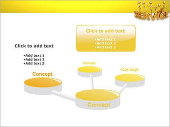 Serviço de Ouro Modelos de apresentações PowerPoint - Slide 9