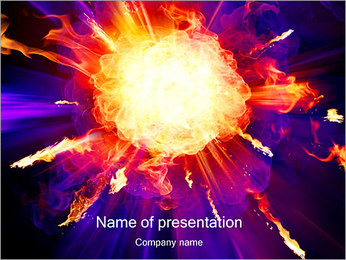 Explosion PowerPoint Template - Slide 1