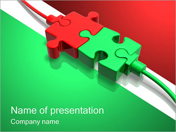 Pussel Connection PowerPoint presentationsmallar