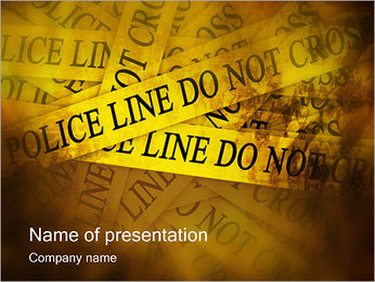 Police Line Do Not Cross PowerPoint Template