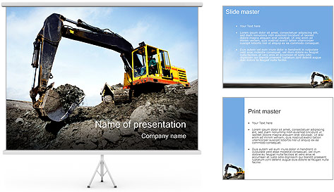 Escavadora Modelos de apresentações PowerPoint