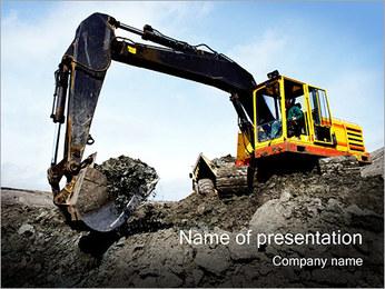 掘削機 PowerPointプレゼンテーションのテンプレート