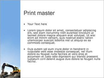 Escavadora Modelos de apresentações PowerPoint - Slide 24