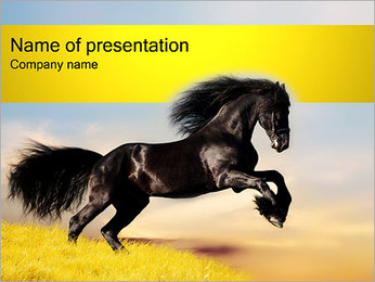 Black Horse PowerPoint Template