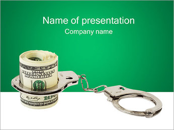 Argent criminel Modèles des présentations  PowerPoint