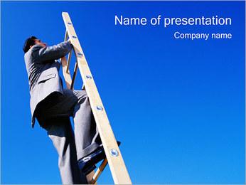 Climbing Upwards PowerPoint Template