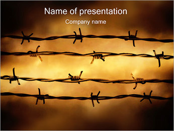 Barbed Wire PowerPoint Template