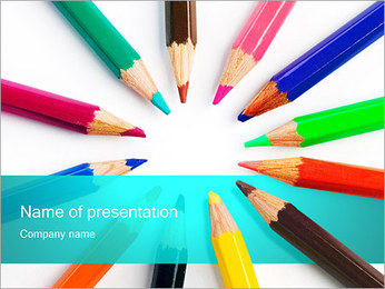 Colorful Pencils PowerPoint Template