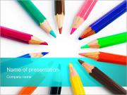 Colorful Pencils PowerPoint Templates