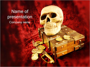 Treasure & Skull PowerPoint Template
