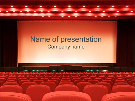 Кинозал Шаблоны презентаций PowerPoint