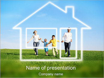 Dream House Sjablonen PowerPoint presentatie