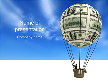 Balloon with Dollars PowerPoint Template