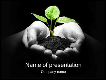 Plant in Hands PowerPoint Template
