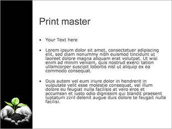 Planta en manos Plantillas de Presentaciones PowerPoint