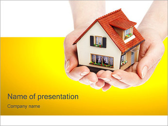 House in Hands PowerPoint Template