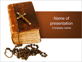 Bible with Cross PowerPoint Template