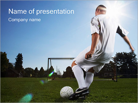 Soccer Player Powerpoint Template Backgrounds Google Slides Id