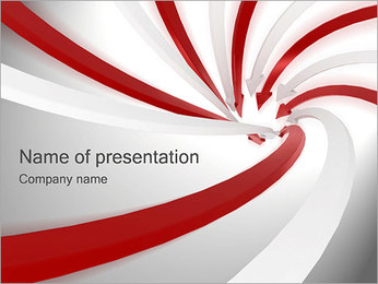 Spiral Arrows PowerPoint Template