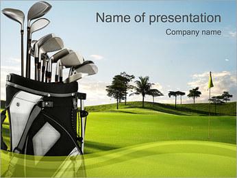 Golf Field PowerPoint presentationsmallar