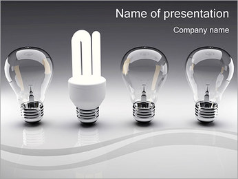 Energy Saving Light Bulbs PowerPoint Template