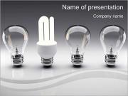 Энергосберегающие лампы Шаблоны презентаций PowerPoint