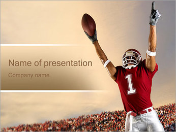 Football Player PowerPoint Template