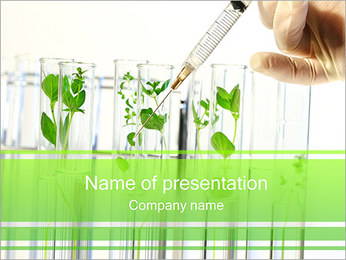 Injection into Plant PowerPoint Template - Slide 1