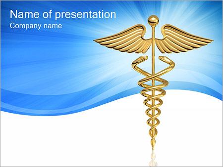 Medical Caduceus Sign PowerPoint Template