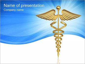Medical Caduceo Sign I pattern delle presentazioni del PowerPoint