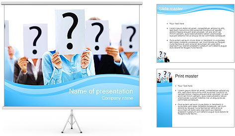 Many Questions PowerPoint Template