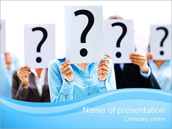 Many Questions PowerPoint Template - Slide 1