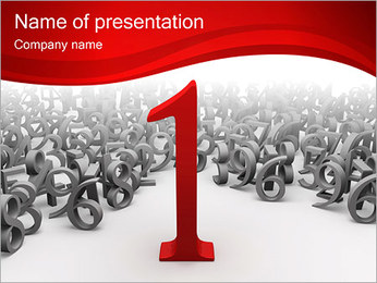 Number One Sjablonen PowerPoint presentatie