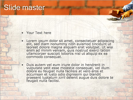 Building Brick Wall PowerPoint Template