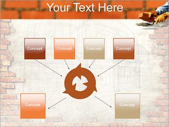 Edifício da parede de tijolo Modelos de apresentações PowerPoint - Slide 10